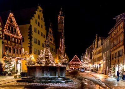 Weihnachtliche Stimmung in Rothenburg ob der Tauber